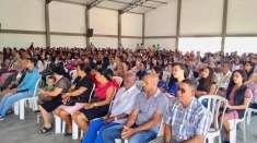 Batismo e estudo bíblico reúnem cerca de 420 pessoas no Maanaim de Guanambi, BA