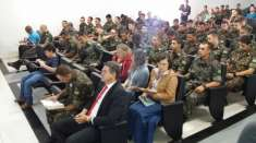 Culto é realizado no Batalhão Ferroviário de Araguari (MG)