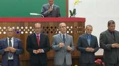 Pastores da Igreja Cristã Maranata participam de ceia no encerramento do mês de maio