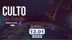 Culto via satélite exibido em 12/01/2020