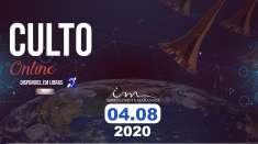 Áudio do Culto exibido em 04/08/2020 pela Igreja Cristã Maranata