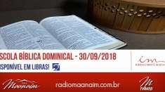 Escola Bíblica Dominical - 30/09/2018