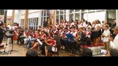 Área de Aracruz realiza um culto em praça de alimentação