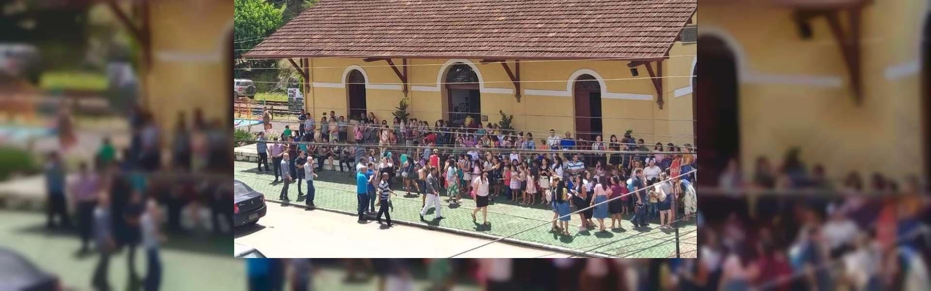 Evangelização de Projeto Aprendiz preenche arredores da Estação Ferroviária em Marechal Floriano, ES