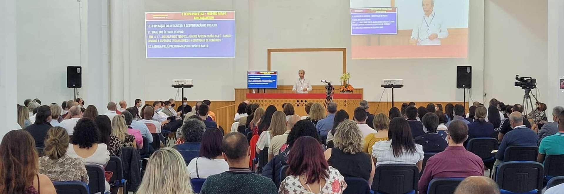 Primeiro Seminário da Igreja Cristã Maranata transmitido do Maanaim de Portugal para o mundo