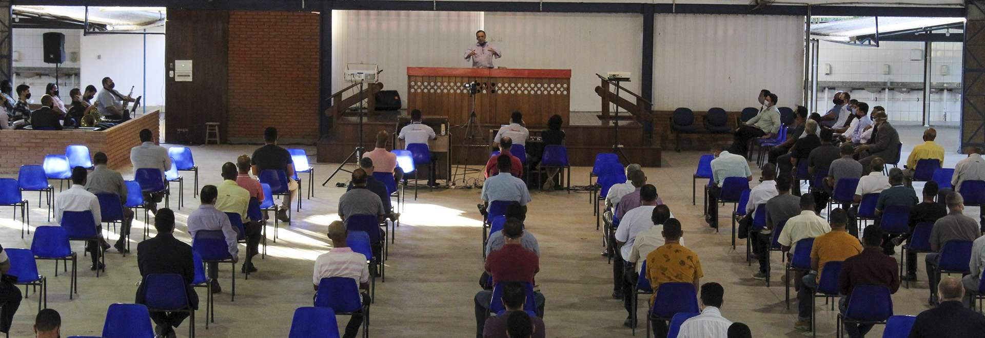 Evento da Igreja Cristã Maranata reúne obreiros, diáconos e pastores da área de Terra Vermelha, em Vila Velha, ES