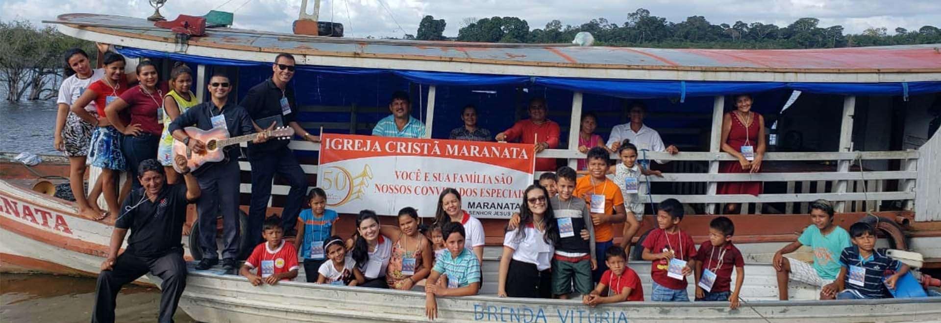 Igreja Cristã Maranata em Comunidade Ribeirinha do Amazonas recebe assistência espiritual