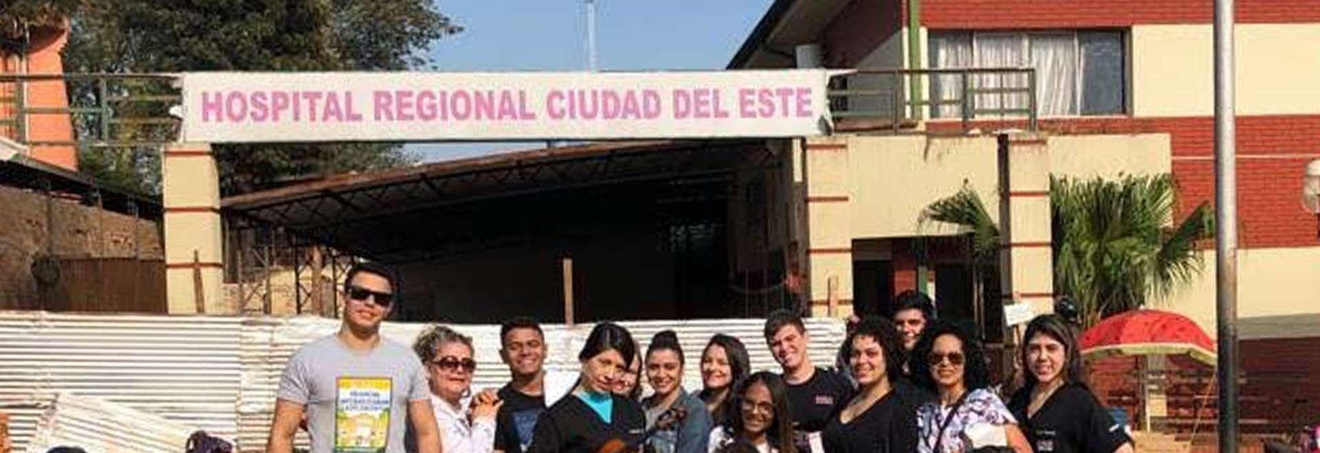 Jovens da Igreja Cristã Maranata visitam Hospital no Paraguai